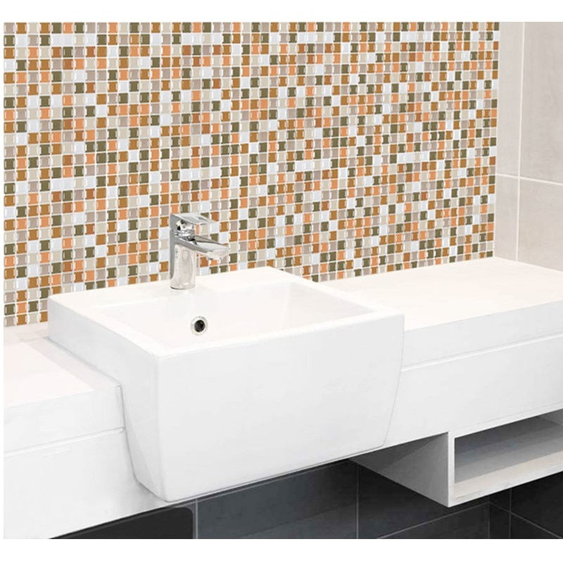 mosaic wall tile peel and stick self adhesive backsplash